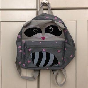 Other - Gently used girls mini raccoon backpack